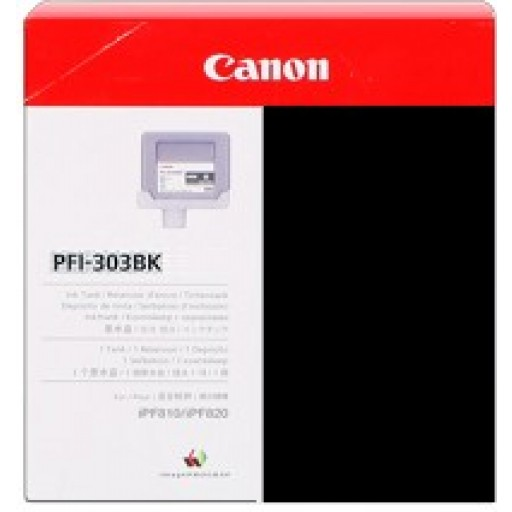 Canon iPF810, iPF815, iPF820, iPF825 PFI303BK Ink Cartridge - Black Genuine (2958B001AA)