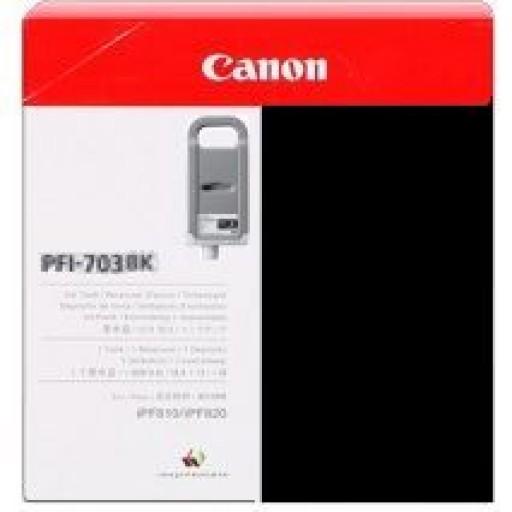 Canon iPF810, iPF815, iPF820, iPF825 PFI703BK Ink Cartridge - HC Black Genuine (2963B001AA)