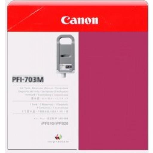 Canon iPF810, iPF815, iPF820, iPF825 PFI703M Ink Cartridge - HC Magenta Genuine (2965B001AA)