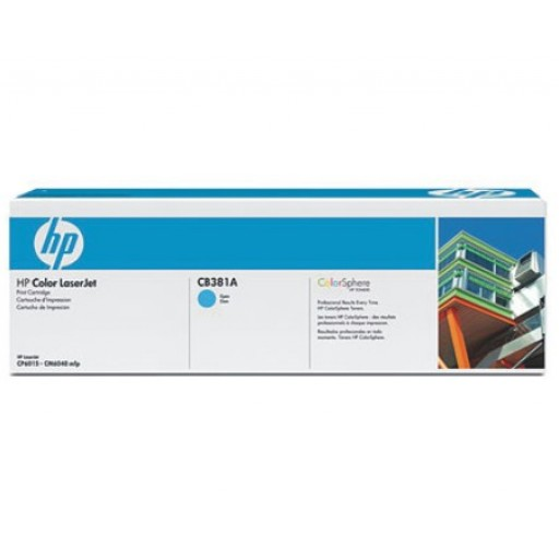 HP CB381A, Toner Cartridge- Cyan, CP6015, CM6030, CM6040- Original