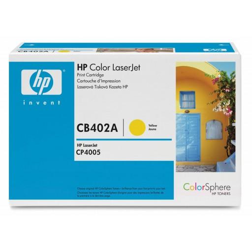 HP CP4006 Toner Cartridge - Yellow Genuine (CB402A)