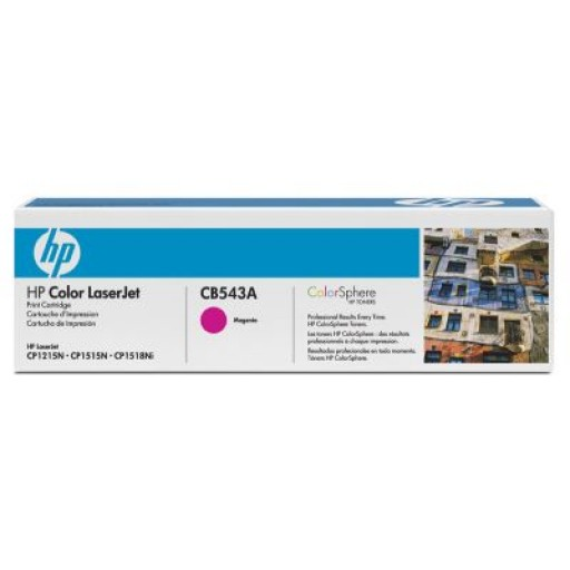 HP CB543A, Toner Cartridge- Magenta, CM1312, CP1215, 1217- Genuine