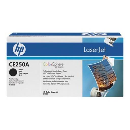 HP CE250A, Toner Cartridge- Black, CM3530, CP3520, CP3525- Genuine