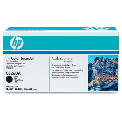 HP CE260A, Toner Cartridge Black, CP4025, CP4525- Original
