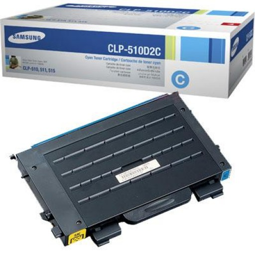 Samsung CLP-510D2C Toner Cartridge, CLP-510 - Cyan Genuine