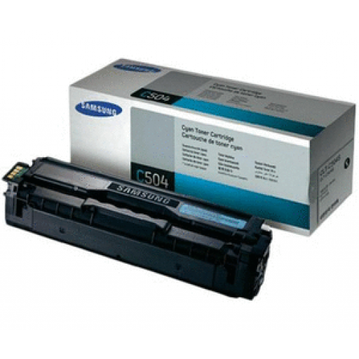 Samsung CLT-C504S Toner Cartridge, CLP 415, CLX 4195 - Cyan Genuine