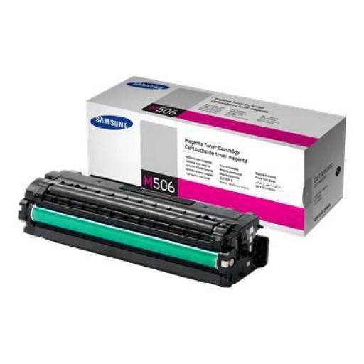 Samsung CLT-M506S Toner Cartridge Magenta, CLP-680, CLX-6260- Original