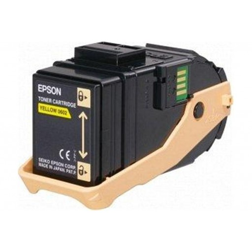 Epson C13S050602 Toner Cartridge, AcuLaser C9300 - Yellow Genuine
