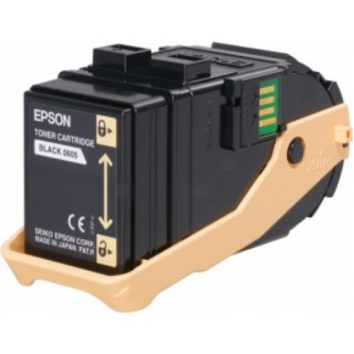 Epson C13S050605 Toner Cartridge, AcuLaser C9300 - Black Genuine