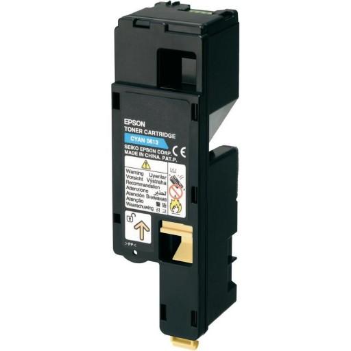 Epson C13S050613 Toner Cartridge, AcuLaser C1700, C1750, CX17 - HC Cyan Genuine