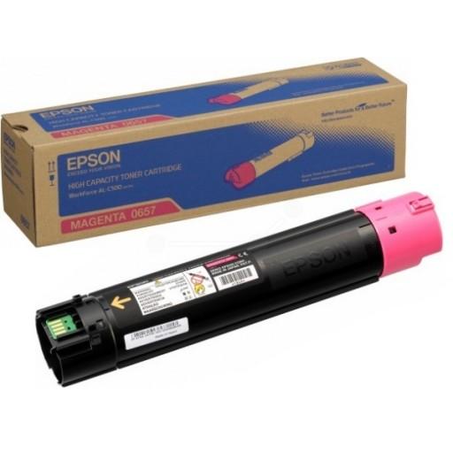 Epson C13S050657 Toner Cartridge, Workforce AL-C500 - HC Magenta Genuine