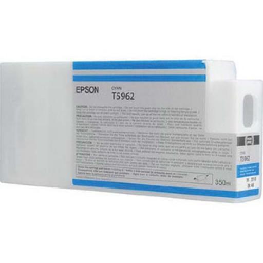 Epson C13T596200, T5962 Ink Cartridge, Stylus Pro 7700, 7890, 7900, 9700, 9890, 9900- Cyan Genuine
