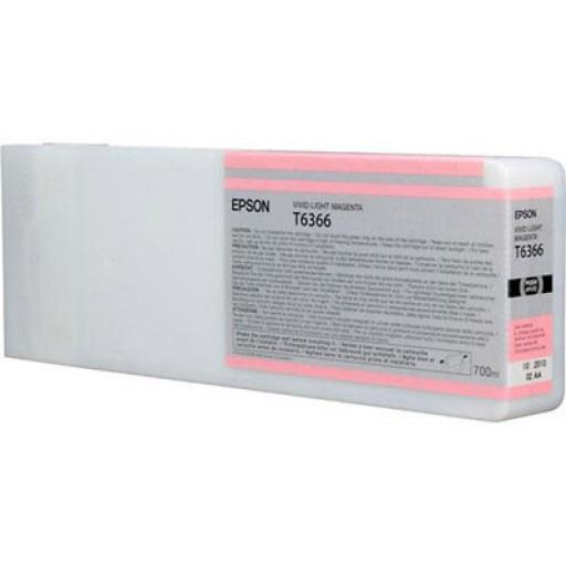 Epson C13T636600, T6366 Ink Cartridge, Stylus Pro 7700, 7890, 7900, 9700, 9890, 9900- HC Light Magenta Genuine
