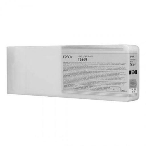 Epson C13T636900, T6369 Ink Cartridge, Stylus Pro 7700, 7890, 7900, 9700, 9890, 9900- HC Light Light Black Genuine