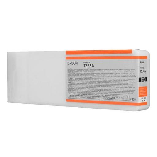 Epson C13T636A00, T636A Ink Cartridge, Stylus Pro 7700, 7890, 7900, 9700, 9890, 9900- HC Orange Genuine