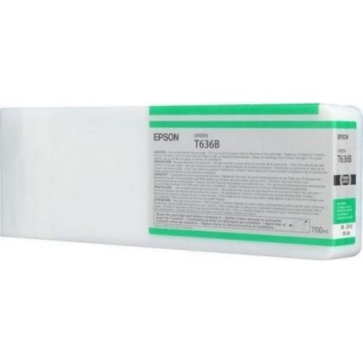 Epson C13T636B00, T636B Ink Cartridge, Stylus Pro 7700, 7890, 7900, 9700, 9890, 9900- HC Green Genuine