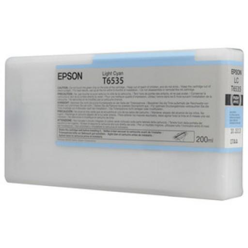 Epson C13T653500, T6535 Ink Cartridge, Stylus Pro 4900 - Light Cyan Genuine