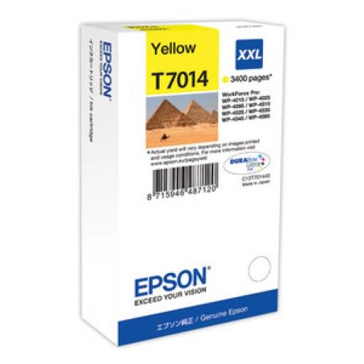 Epson C13T70144010, Ink Cartridge Extra HC Yellow, WP 4095, 4595, 4015, 4515, T7014 XXL- Original