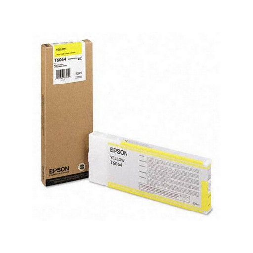Epson T6064, C13T606400 Ink Cartridge, 4800, 4880 - HC Yellow Genuine