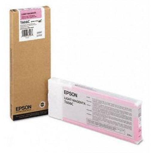 Epson T606C, C13T606C00 Ink Cartridge, 4800, 4880 - HC Light Magenta Genuine