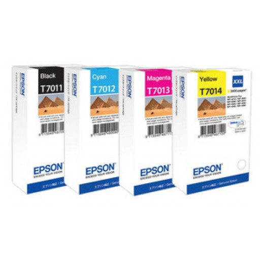 Epson T701 XXL, Ink Cartridge Extra HC 4 Colour Value pack, WP 4095, 4595, 4015, 4515- Original