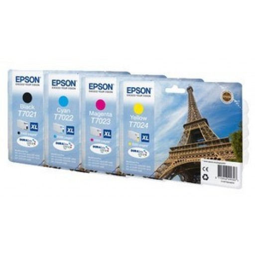 Epson T702 XL Ink Cartridge ValuePack, HC 4 COlour Genuine