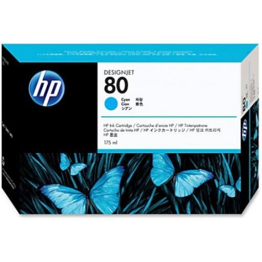 HP C4872A, No.80 Ink Cartridge Cyan, Designjet 1050c- Original