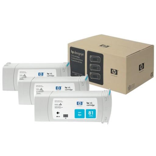 HP C5067A No.81 Ink Cartridge Cyan Multipack, Designjet 5000- Original