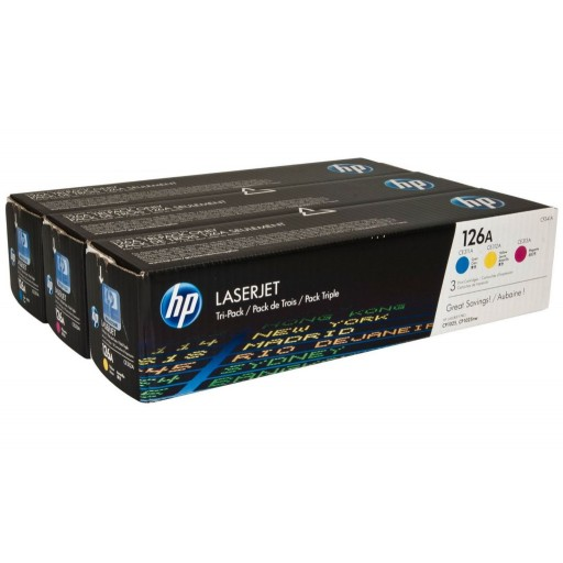 HP CF341A, 126A Toner Cartridge Multipack, CP1025, M175, M275 - 3 Colour Genuine