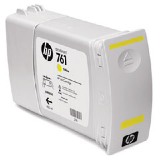 HP CM992A, 761 Ink Cartridge, Designjet T7100 - Yellow Genuine