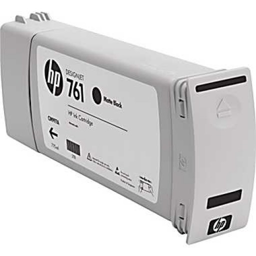 HP CM997A, 761 Ink Cartridge, Designjet T7100 - HC Matte Black Genuine