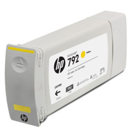 HP CN708A, 792 Ink Cartridge, Designjet L28500 - Yellow Genuine