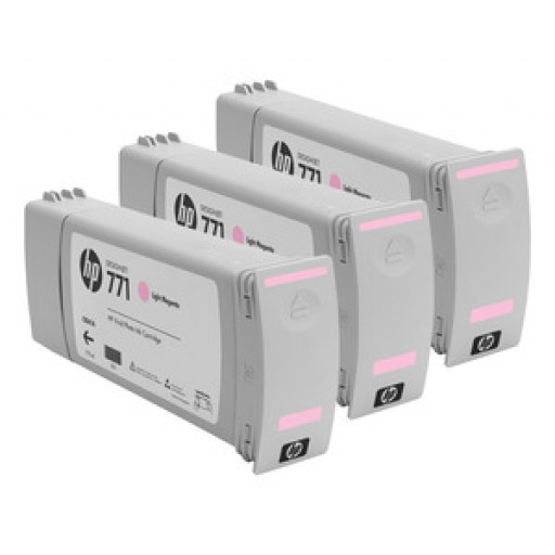 HP CR254A, 771 Ink Cartridge, Designjet Z6200 - Light Magenta Multipack Genuine
