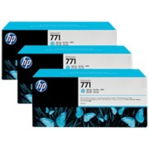 HP CR255A, 771 Ink Cartridge, Designjet Z6200 - Light Cyan Multipack Genuine