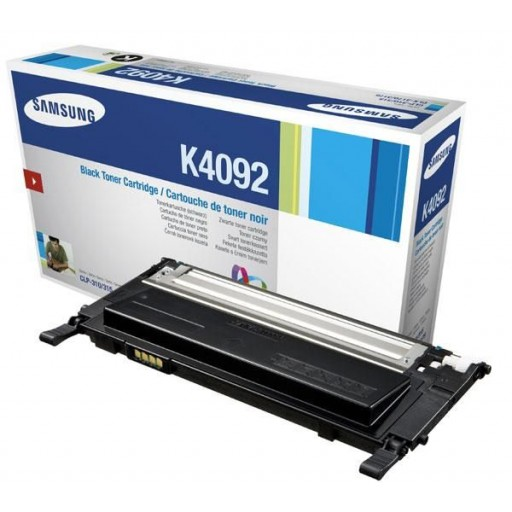 Samsung CLT-K4092S Toner Cartridge, CLP 310, 315, CLX 3175 - Black Genuine