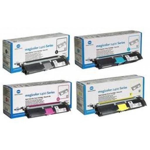 Konica Minolta 1710589 Toner Cartridge Value Pack HC 4 Colour, Magicolor 2400, 2500 - Genuine