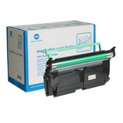 Konica Minolta 1710591-001 Image Drum Cartridge, Magicolor 2400, 2430, 2450, 2480, 2500, 2530 - Genuine