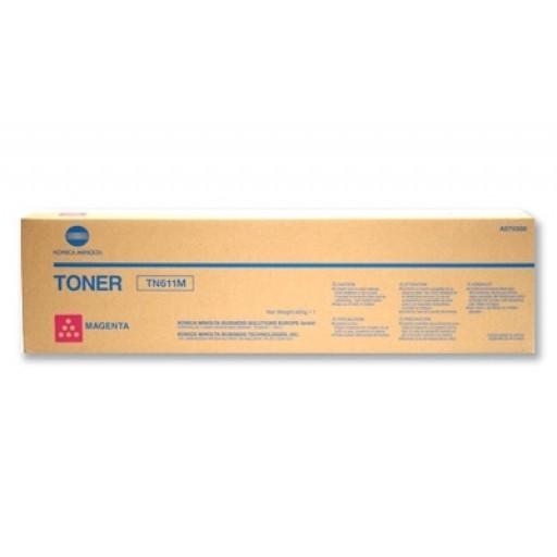 Konica Minolta TN611M, Toner Cartridge- Magenta, C451, C550, C650- Original