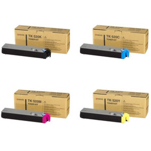 Kyocera TK520 Toner Cartridge ValuePack, FS-C5015N - 4 Colour Genuine