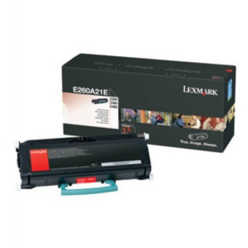 Lexmark 0E260A21E, Toner Cartridge- Black, E260, E360, E460- Original