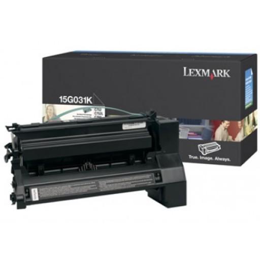 Lexmark 15G031K, Toner Cartridge Black, C752, C760, C762- Original