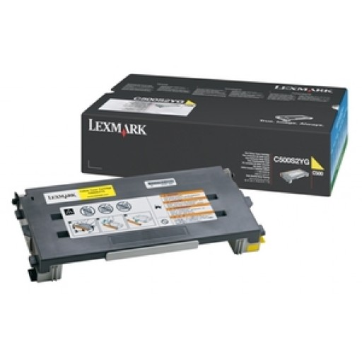 Lexmark C500S2YG Toner Cartridge, C500, X500, X502 - Yellow Genuine