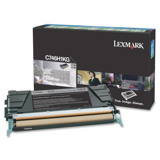 Lexmark C746H1KG, 746/748 Return Program Toner Cartridge - Black