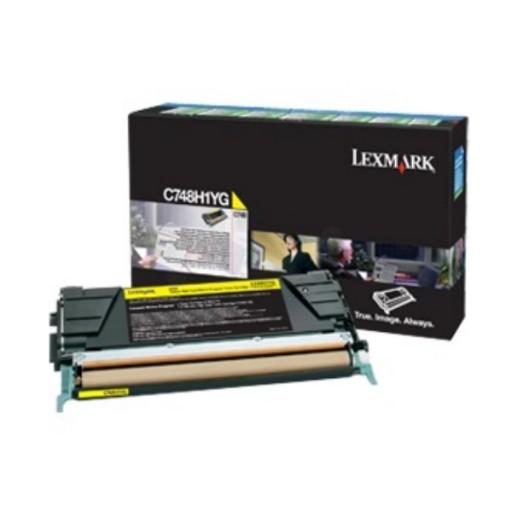Lexmark C748H3YG Toner Cartridge, C748 - Yellow Genuine