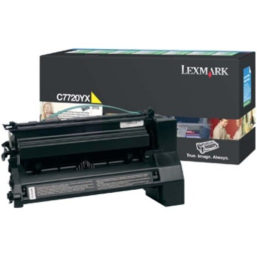 Lexmark C7720YX, Return Program Toner Cartridge Extra HC Yellow, C772, X772- Original