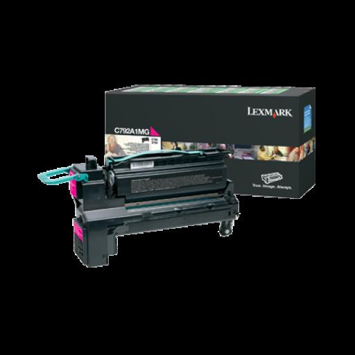 Lexmark C792A1MG, C792/X792 Toner Cartridge 6k - Magenta