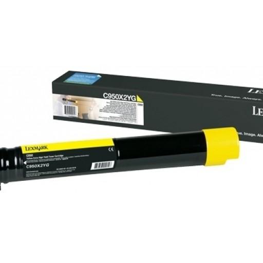 Lexmark C950X2YG, C950 Toner Cartridge - Yellow