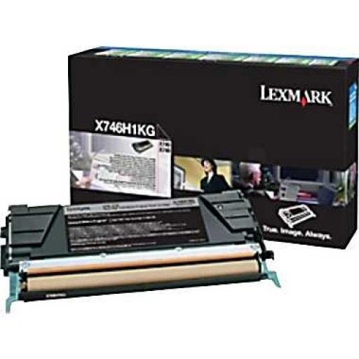 Lexmark X746H1KG, X746/748 High Capacity Black Return Program Toner Cartridge- Genuine