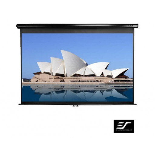 Elite M100NWV1-WHITE Manual Pull Down Projection SCreen