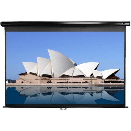 Elite M84UWV-BLACK Pull Down Projection Screen